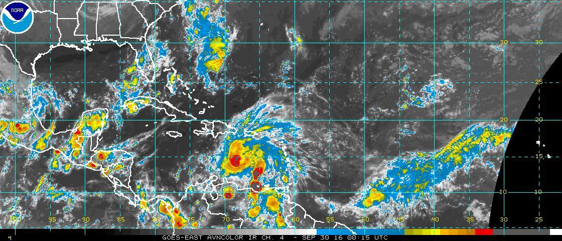 Matthew continúa sobre el Caribe oriental