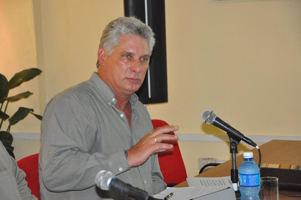 Miguel Díaz-Canel en La Demajagua, Bayamo