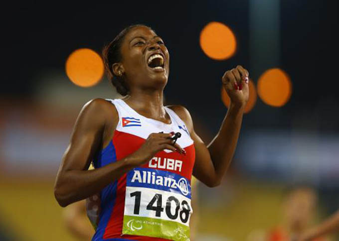 Velocista cubana Durand logra récord paralímpico en Río 2016