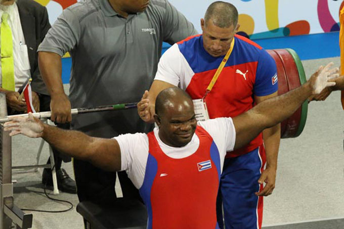 Meritorio cuarto escaño para pesista cubano en cita paralímpica