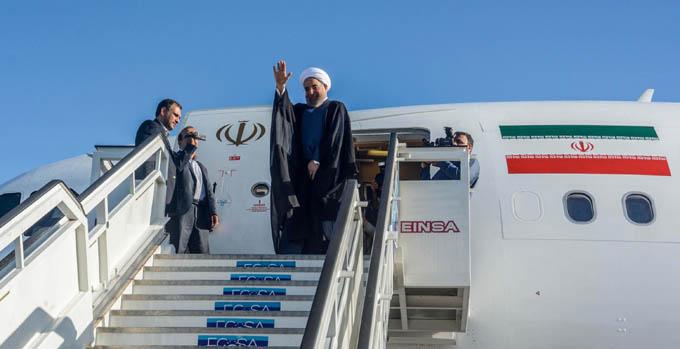 Se despide de Cuba presidente iraní Hasan Rohani