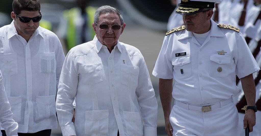 Raúl Castro Ruz, llegó a Colombia