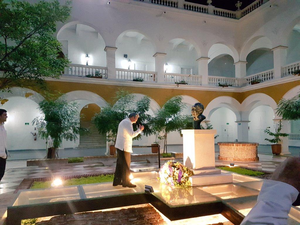 Rinde homenaje Presidente Cubano a García Márquez en Cartagena