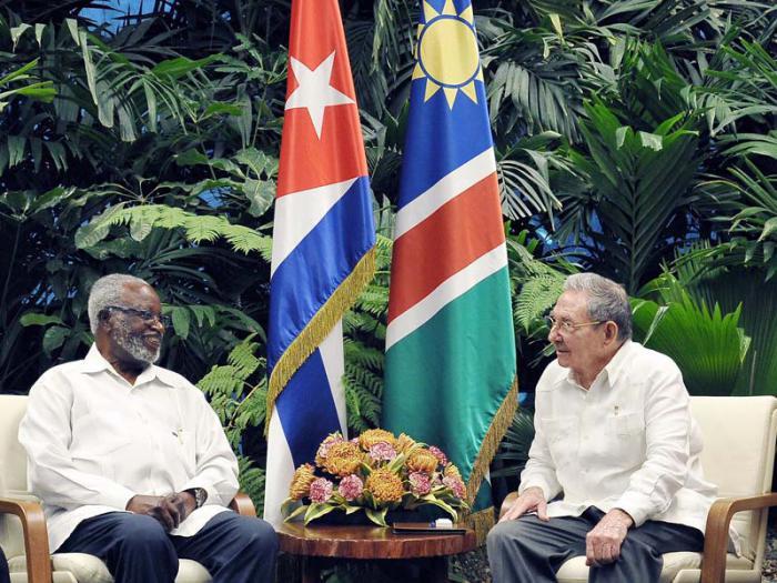 Recibió Raúl a Sam Nujoma y al Primer Ministro del Reino de Lesoto