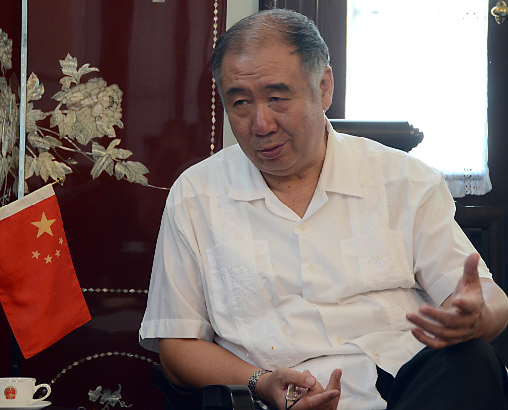 Zhang Tuo, embajador de China en Cuba / FOTO Joaquín Hernández Mena