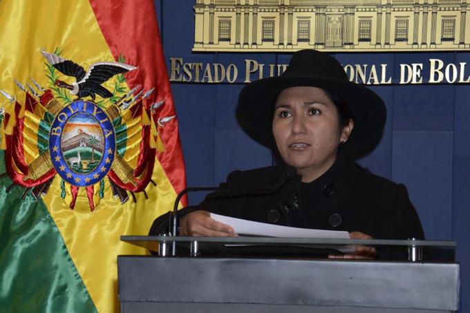 Bolivia: ministra denuncia conspiración opositora contra el Gobierno
