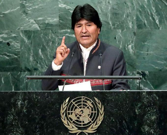 Evo Morales llama a respetar y reconocer competencia de la CIJ