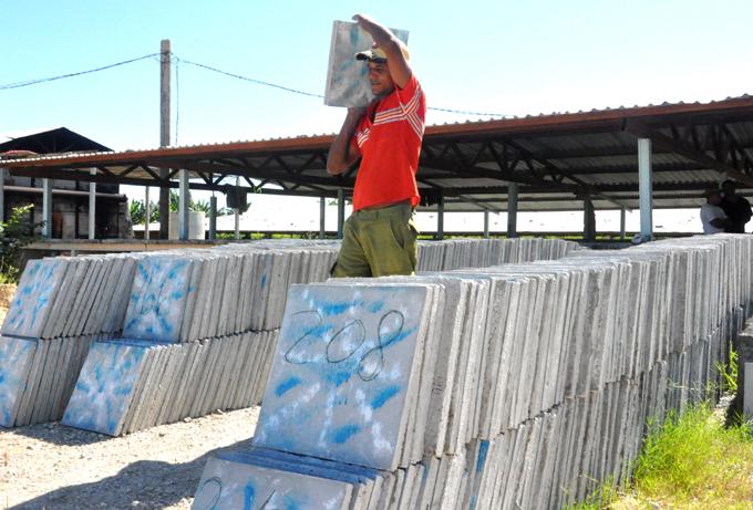 Prosigue en ascenso producción de materiales de construcción en Granma