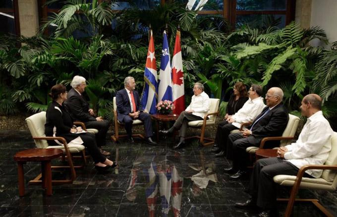 Recibió Raúl al Primer Ministro de la provincia de Quebec