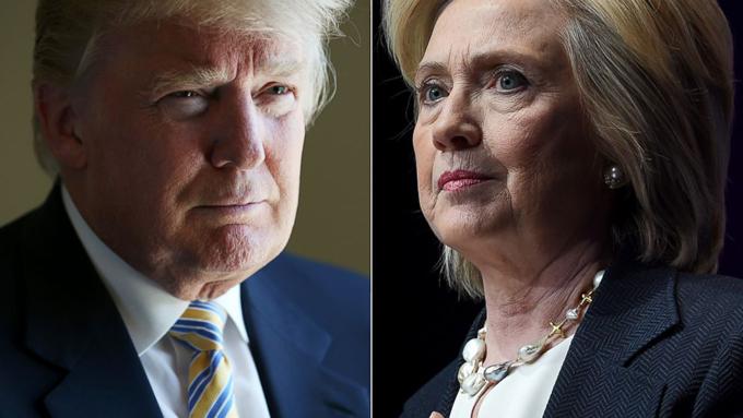 Trump y Clinton en cerrada lucha
