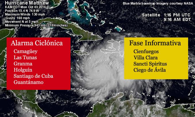 Alarma Ciclónica para las provincias de Camagüey, Las Tunas, Holguín, Granma, Santiago de Cuba y Guantánamo