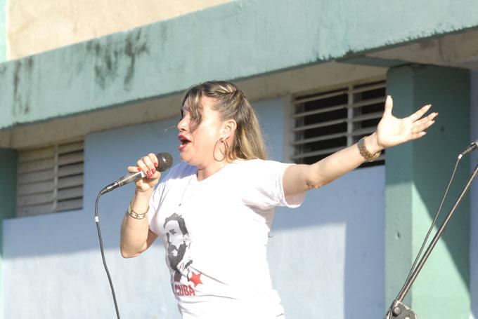 Ary Rodríguez interpretó Canto a Fidel
