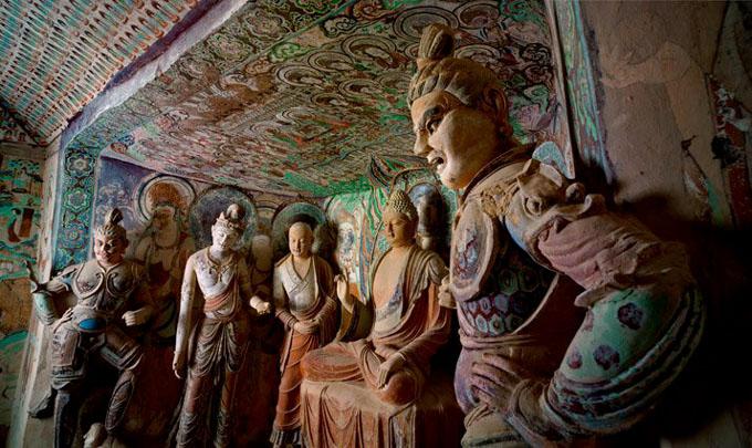 Fotógrafos acceden por primera vez a cuevas chinas de los mil budas