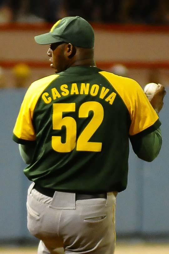 Casanova encabezó los lanzadores más efectivos, con promedio de carreras limpias de 0.90 / Fotos Luis Carlos Palacios Leyva