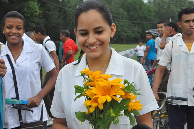 Una flor, la sonrisa y Camilo