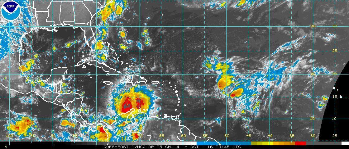Matthew ahora es categoría cuatro con vientos máximos sostenidos de 250 kilómetros