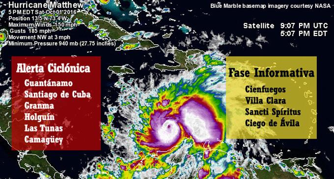 #Cuba: decretan fase de Alerta Ciclónica para las provincias orientales