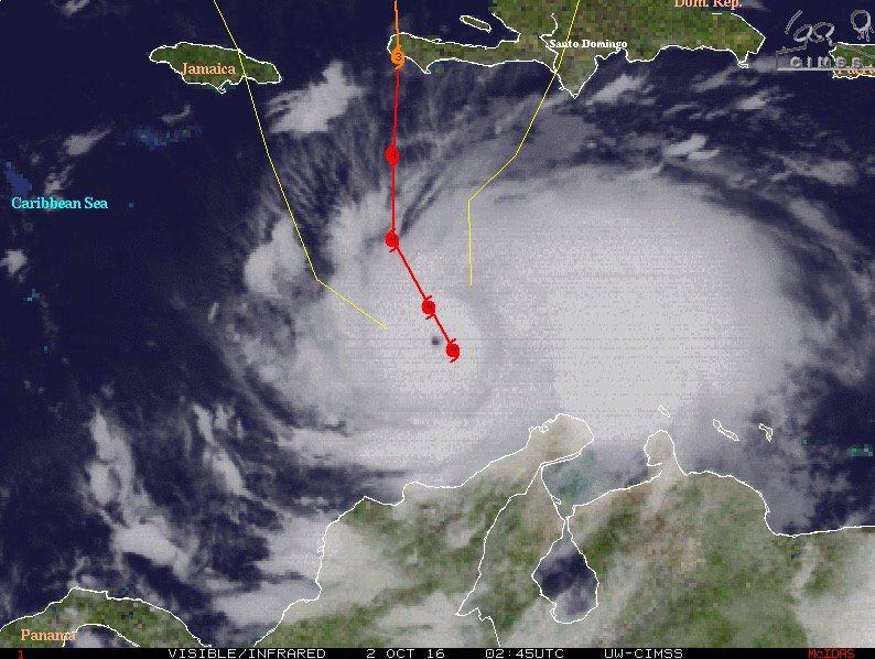 Matthew ha iniciado un movimiento hacia el nortenoroeste a unos 11 kilómetros por hora (Aviso Nro 16, 12:05 am)
