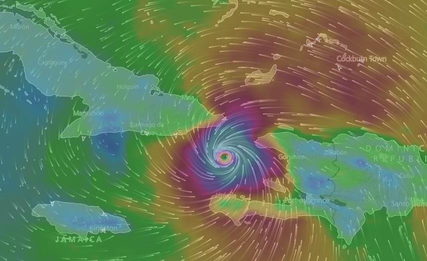 Inminente azote de Matthew a la región oriental de Cuba (Aviso Nro 27, 12:00 pm)