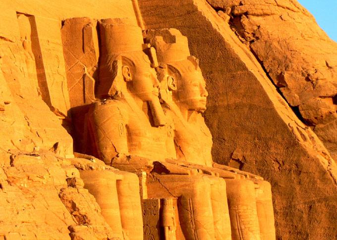 Un infrecuente rayo de sol en Egipto