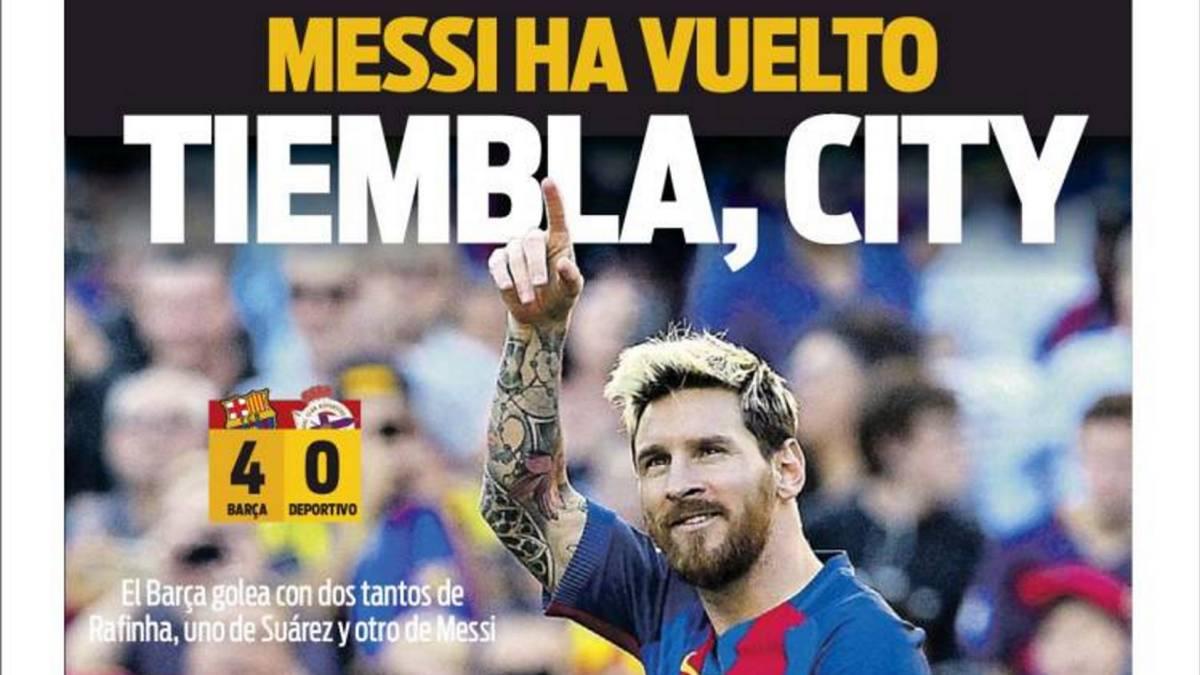 Vuelve Messi, vuelve la alegría