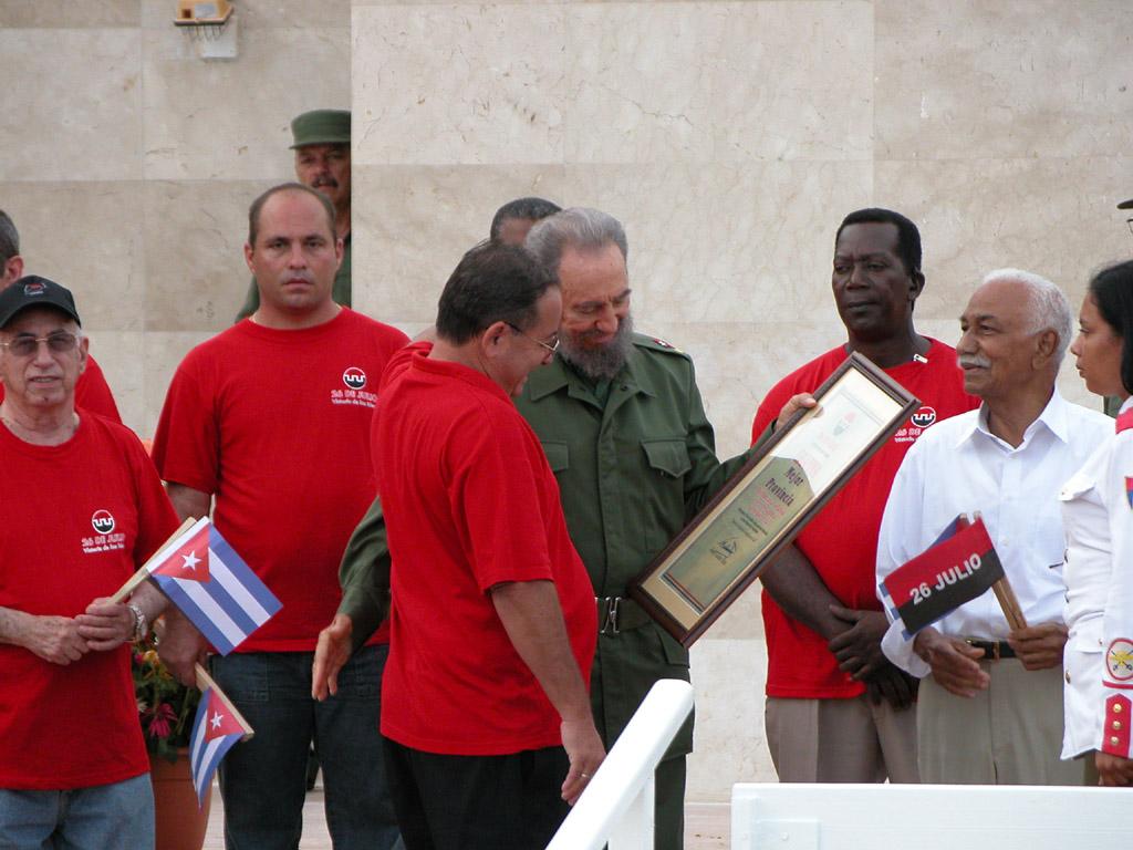 Fidel el 26 de Julio  en Bayamo, 2006