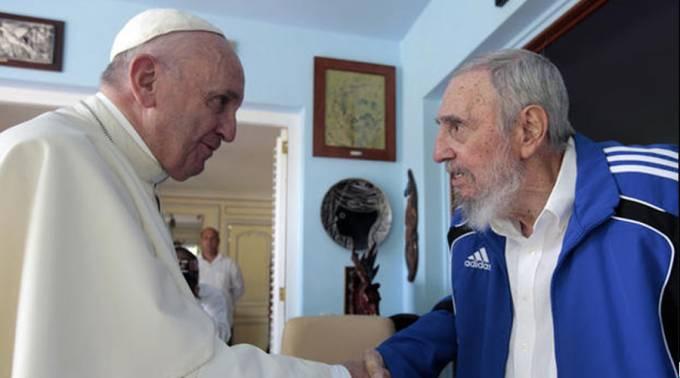 El Papa Francisco expresa sus condolencias por la muerte del líder cubano Fidel Castro