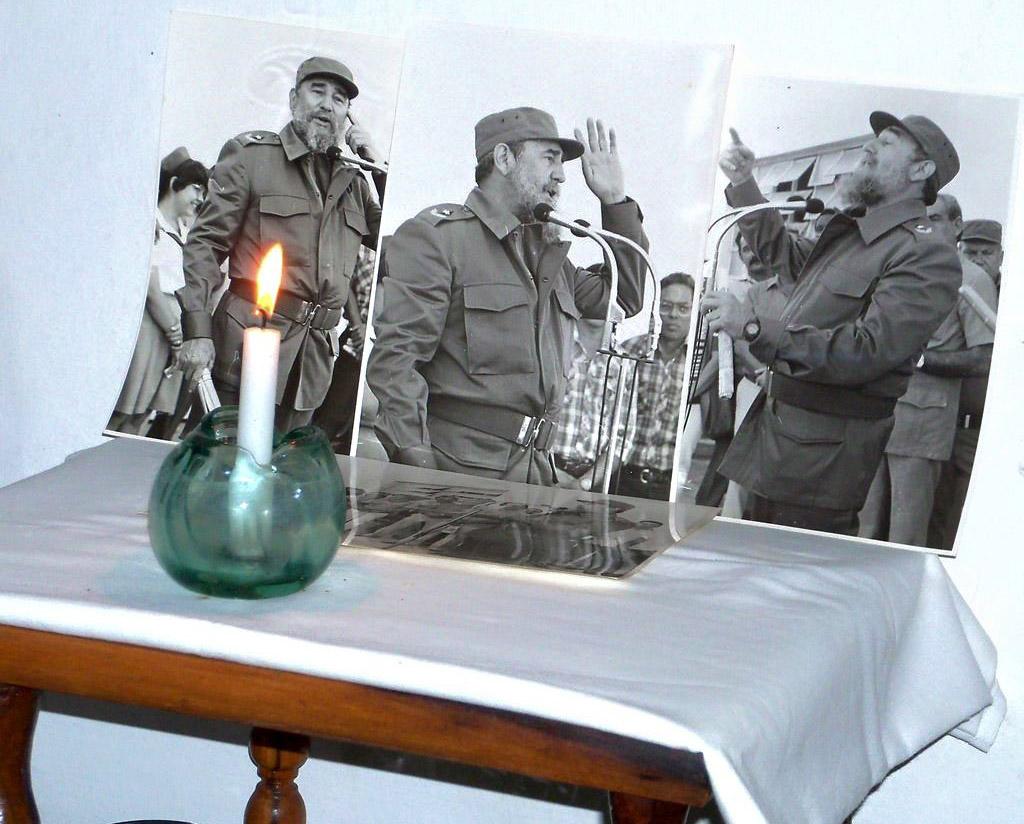 Homenaje a Fidel en la casa de Ángela Valdés