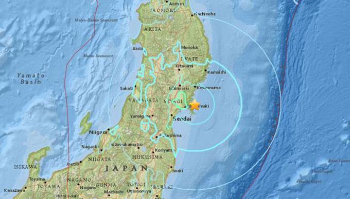 Sismo de magnitud 6,2 sacude este de Japón