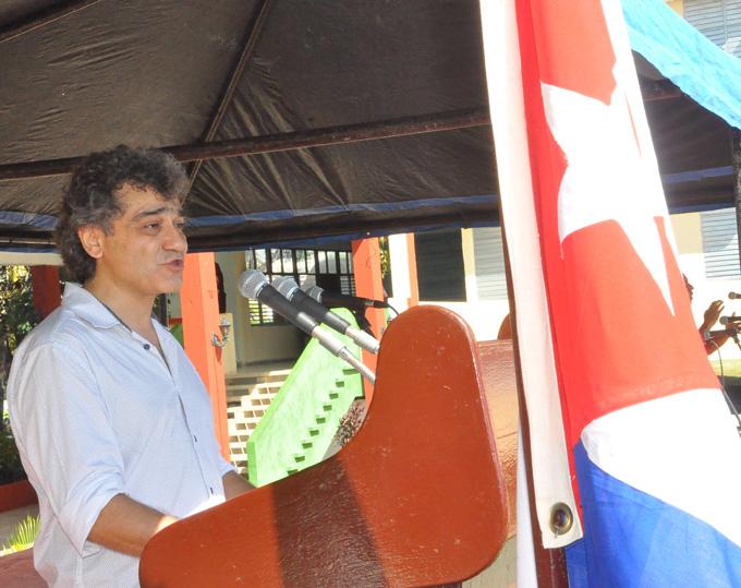 Phillippe Martínez, representante de Handicap internacional en Cuba FOTO/ Rafael Martínez Arias