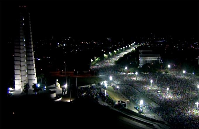 Acto de masas en homenaje póstumo a Fidel Castro (Minuto a Minuto + Streaming)