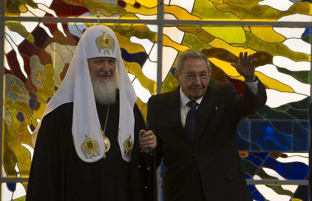 Felicita Raúl al Patriarca Kirill por su 70 cumpleaños