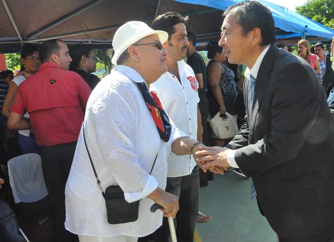 Embajador de Japón inaugura en Granma programa para discapacitados (+ fotos)