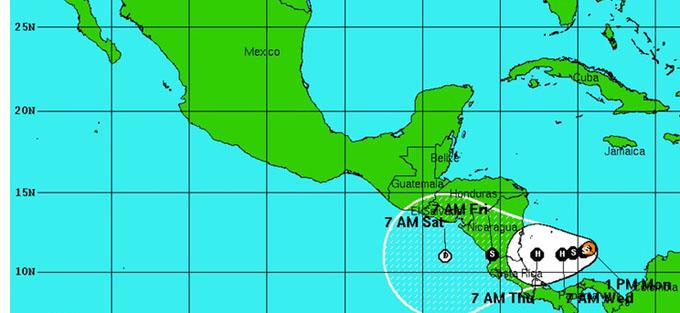 Se mantiene casi estacionaria la tormenta tropical Otto