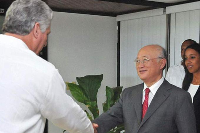 Primer vicepresidente cubano recibe a director general del OIEA