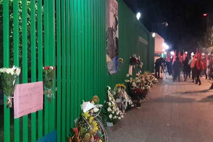 Marcha y vigilia de Partido Comunista de México en homenaje a Fidel