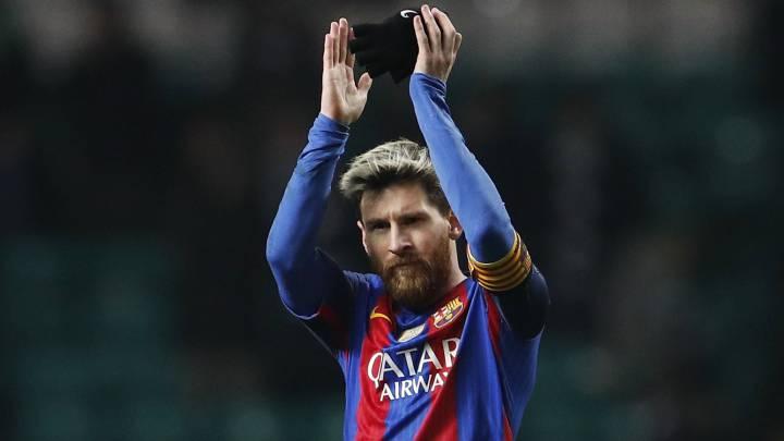 Messi se pone a 100 presumiendo de puntería