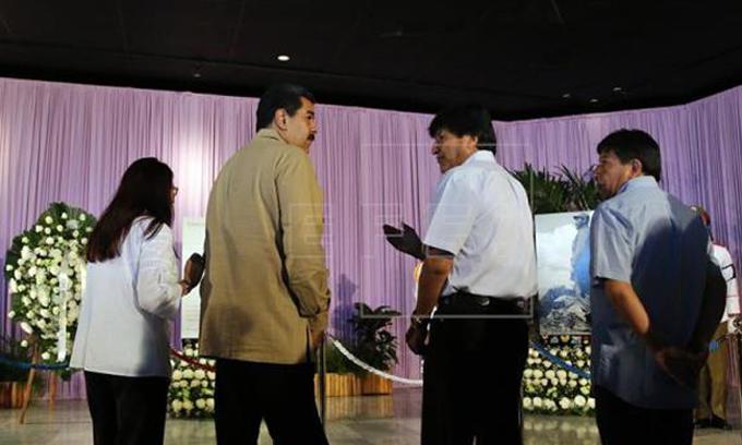 Presidentes de Venezuela y Bolivia rinden tributo a Fidel Castro