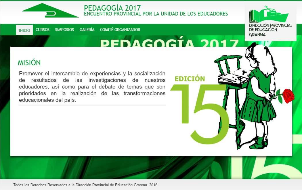 Realizarán en Granma Congreso Pedagogía 2017