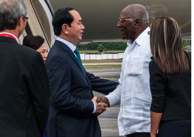 En Cuba presidente de Vietnam para profundizar cooperación bilateral
