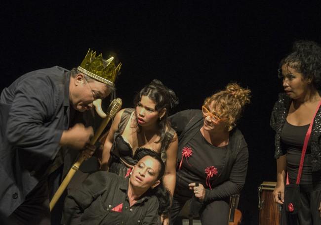 Presentación de la obra en proceso La virgen que aprendió a contar/ Foto Carlos Montejo Matamoros