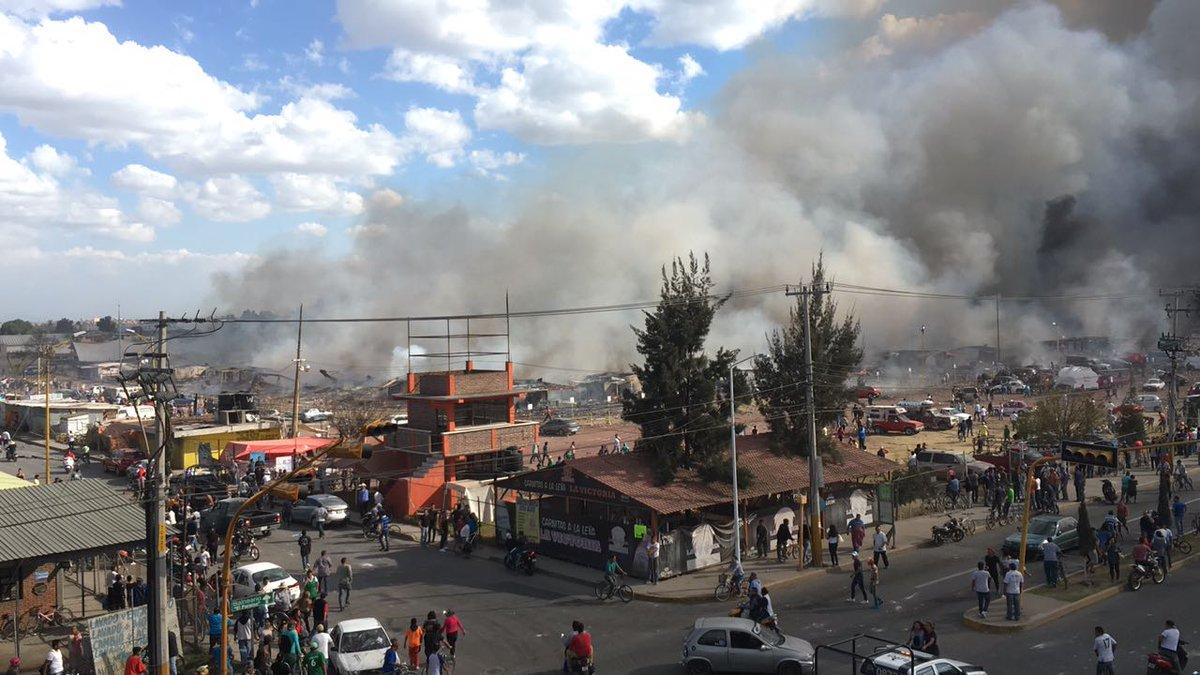 Explosiones en mercado de pirotecnia México dejan al menos 27 muertos y decenas de heridos (+fotos y videos)