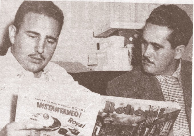 Fidel Castro junto a Juan Manuel Márquez