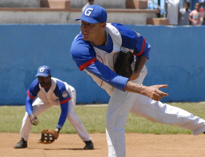 Lázaro Blanco encabeza también a los lanzadores más efectivos del campeonato / Foto Luis Carlos Palacios Leyva