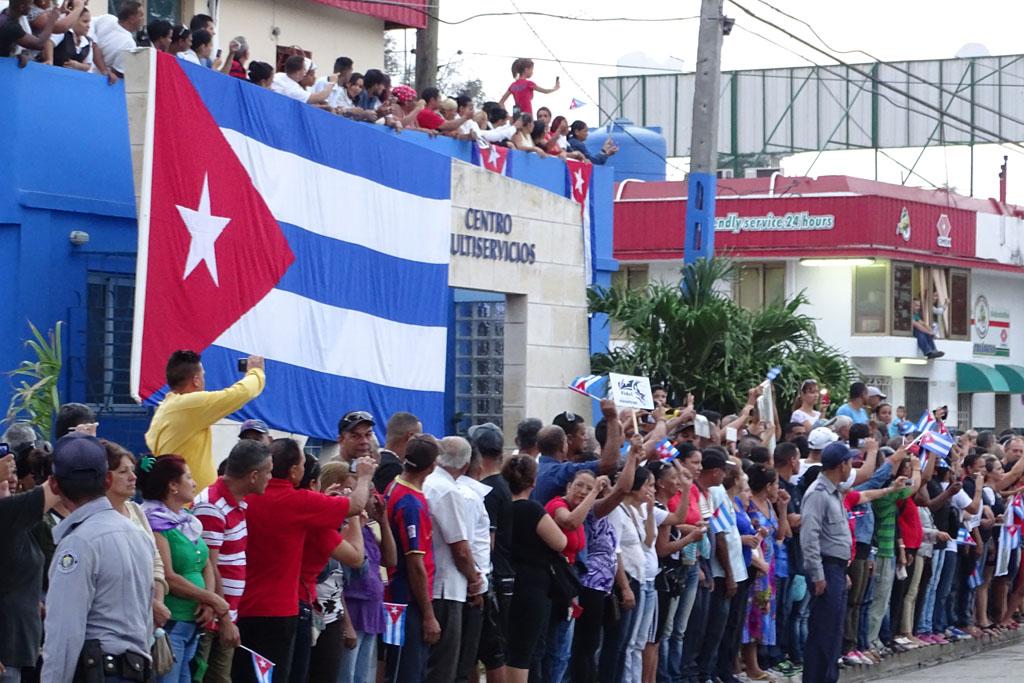 Las cenizas de Fidel salen de Bayamo 4