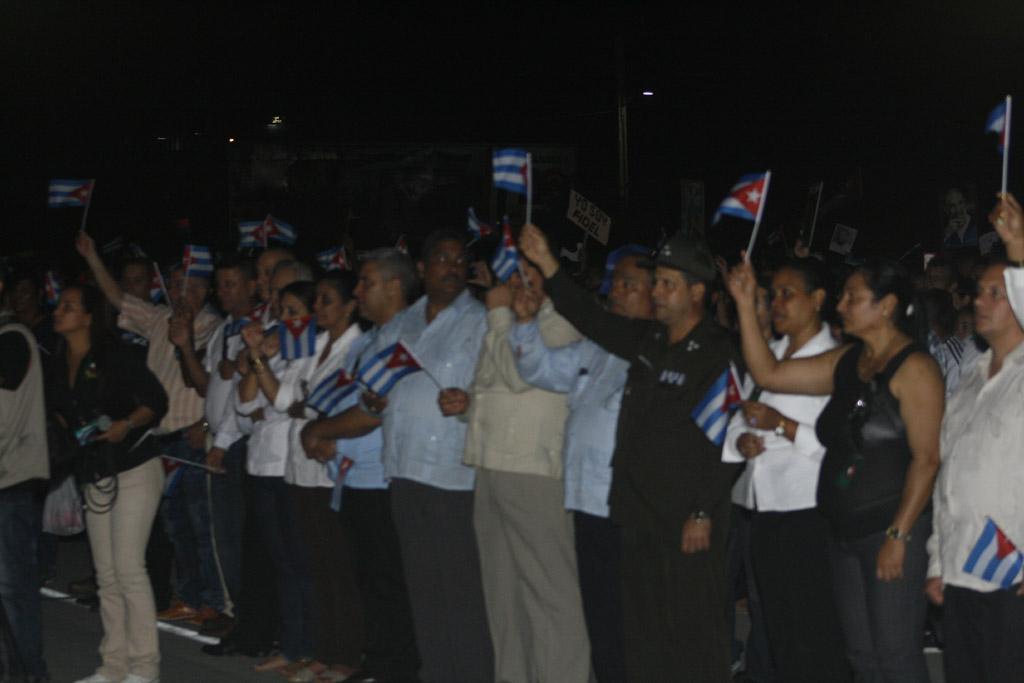 Vigilia en homenaje a Fidel, Bayamo 3