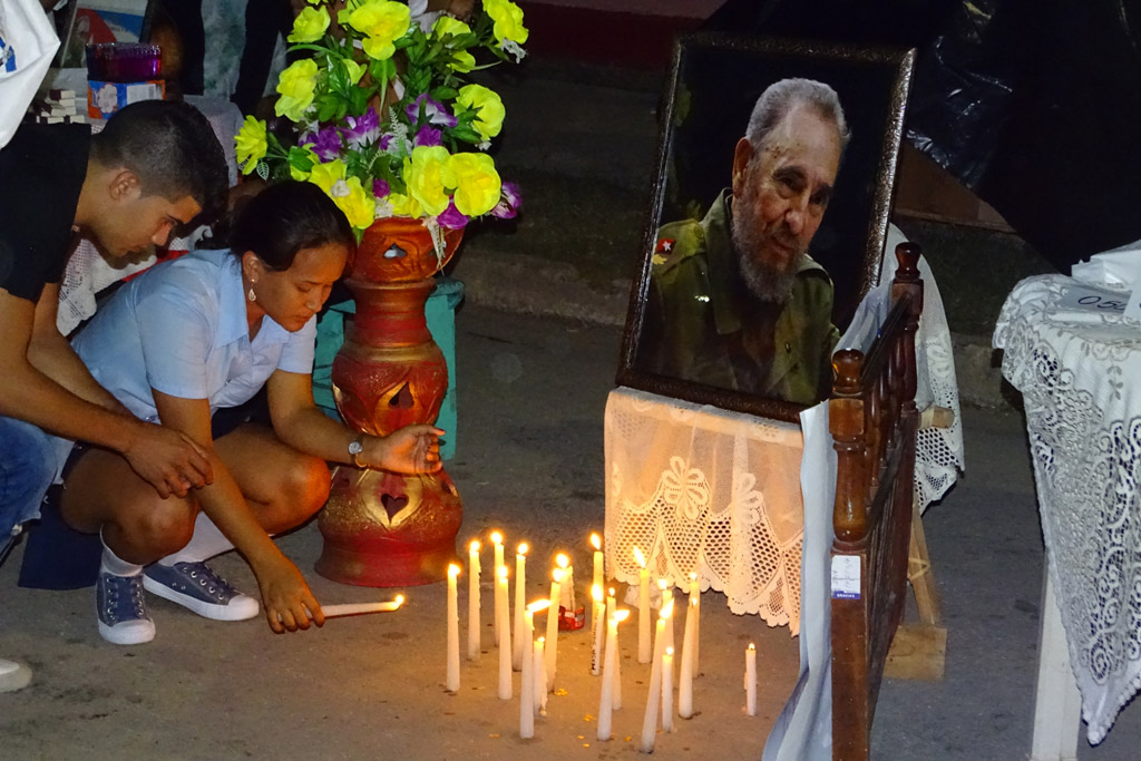 Vigilia en homenaje a Fidel, Bayamo 6