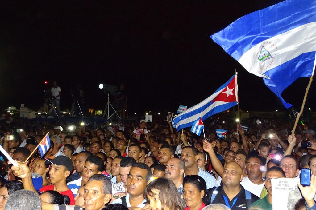 Vigilia en homenaje a Fidel, Bayamo 8