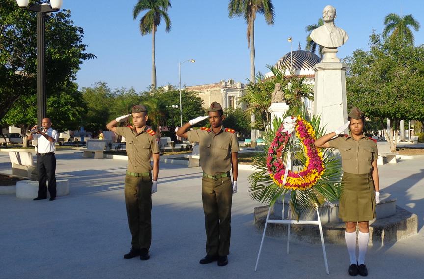Honran legado de Fidel, Antonio Maceo y combatientes internacionalistas