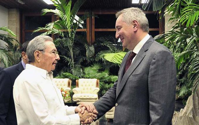 Recibió Raúl al vicepresidente ruso Dimitri Rogozin